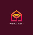 home network design template vector image