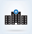 hospital icon medical sign health center icon vector image vector image