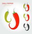 hot chili pepper vector image vector image