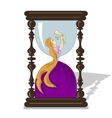 hourglass Mother life vector image