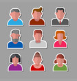 human avatars stickers vector image vector image