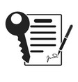 icon style illuetration icon of contract vector image