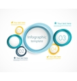 Infographic template with circles vector image vector image