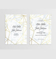 invitation card template of geometric design vector image vector image