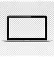 laptop with transparent screen isolated on vector image