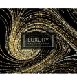 Luxury background with shiny golden glitters vector image vector image