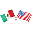 mexico and united states vector image vector image