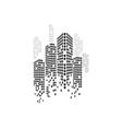 modern city skyline city silhouette vector image vector image