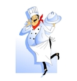 Nice Chef serving the dish vector image vector image