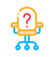 office chair and question mark job hunting vector image vector image