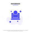 our services laptop dollar money solid glyph icon vector image vector image