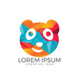 panda bear logo design template vector image vector image