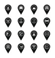 points of interest icons set simple style vector image