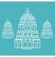 prambanan Hindu temple Indonesia vector image vector image