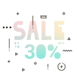 Sale modern banner in the holography style vector image vector image