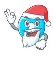 santa with gift number four isolated on the mascot vector image vector image