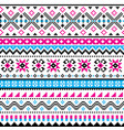 scottish fair isle traditional knit pattern vector image vector image