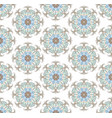 seamless background from floral ornament round vector image