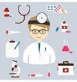 set colorful medical icons vector image vector image