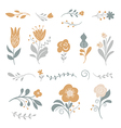 set graphic floral elements vector image vector image