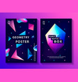 set of abstract trendy cosmic posters vector image vector image