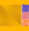set yellow purple pink orange color diagonal vector image vector image
