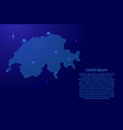 silhouette of switzerland country from wavy blue vector image vector image