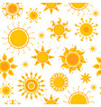 sun seamless pictures weather summer sunshine vector image