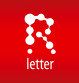 tech logo letter R on a red background vector image vector image