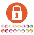 The lock icon Lock symbol Flat vector image vector image