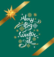 very big winter sale inscription on snowflakes vector image vector image
