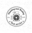 Vintage Plumbing Heating Services logo labels and vector image vector image