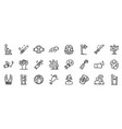 violence icons set outline style vector image vector image