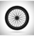 wheel black flat icon vector image vector image