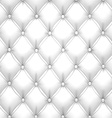 White upholstery leather pattern background vector image vector image