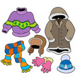 winter clothes collection 2 vector image