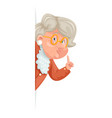 wise advice look out corner grandmother talking vector image