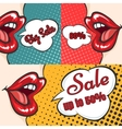 Woman lips pop art sale banners vector image vector image