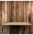 Wood shelf for exhibit EPS 10 vector image vector image