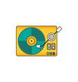vinyl player flat vector image