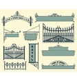 wrought iron wicket fence and gates grilles vector image
