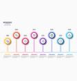 8 steps infographic design timeline chart vector image vector image
