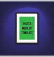 a poster on the wall vector image vector image