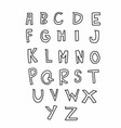 a to z alphabet comic style vector image