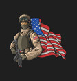 american soldier heroes nation vec vector image