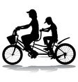 bicycle vector image