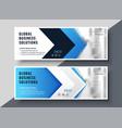 blue arrow style corporate presentation banner vector image
