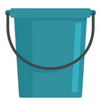 blue bucket icon flat style vector image vector image