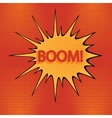 cartoon boom-1 vector image vector image