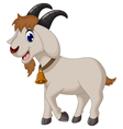 cartoon goat smiling vector image